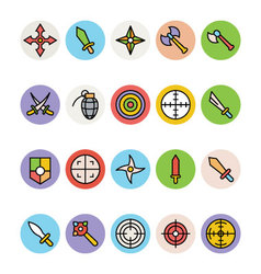 Weapons icons 1 vector