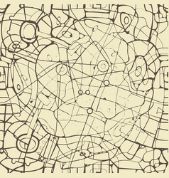 Abstract seamless pattern similar to roads map vector