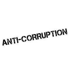 Anti-Corruption rubber stamp vector