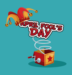 April fools day concept vector