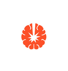 Atomic brain logo vector