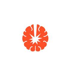 Atomic brain logo vector