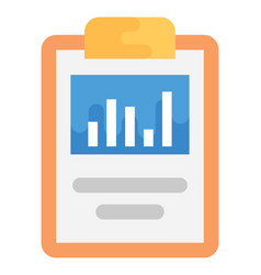 Audit sheet flat icon vector