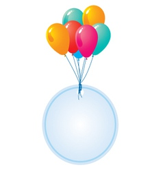 balloon with blank circle card vector image