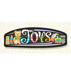 Banner for kids toys vector