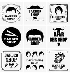 Barbershop graphics vector image