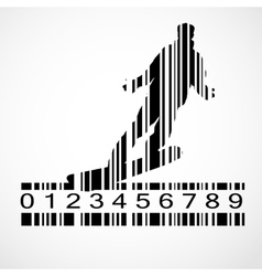 Barcode Snowboarder Image vector