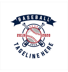 baseball club logo vector image