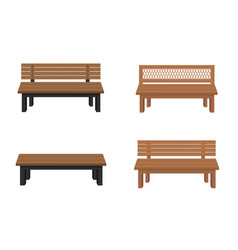 benches isolated on white background vector image