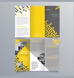 brochure design 828 vector image