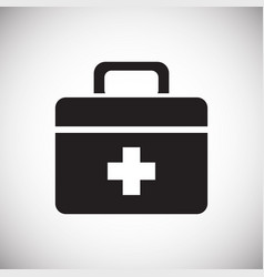 Camping first aid kit on white background for vector
