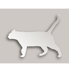 Cat paper style vector