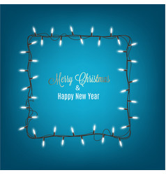 Christmas and new year banner with lights garland vector