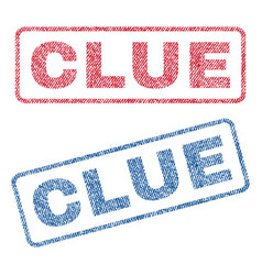 clue textile stamps vector image