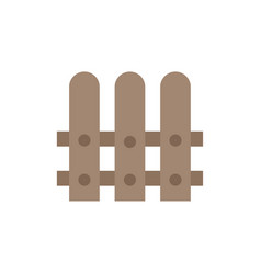 construction fence house flat color icon icon vector image