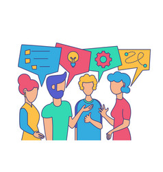 coworkers friendly dialog vector image