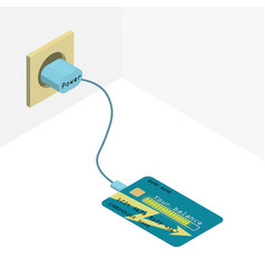 Credit card on charge vector