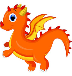 cute dragon cartoon vector image