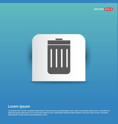 Delete icon - blue sticker button vector