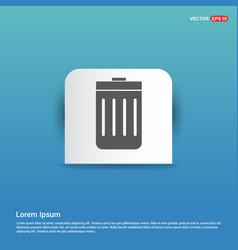 delete icon - blue sticker button vector image