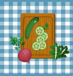Delicious fresh healthy vegetable vector