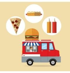 Delicius food Truck icon Delivery concept vector image vector image