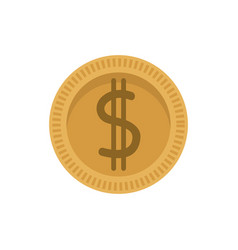 dollar coin money currency cash vector image