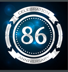 eighty six years anniversary celebration with vector image