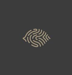 eye fingerprint logo design scan vision vector image