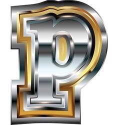 Fancy font Letter p vector