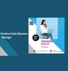 Fashion shop super sale social media banner templa vector