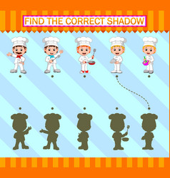 Find correct shadow professional chef vector
