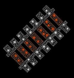 Flare mesh carcass railroad segment with light vector