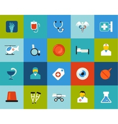 Flat icons set 19 vector image