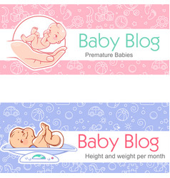 For baby blog vector
