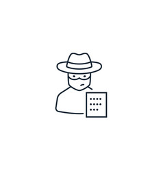 Fraud creative icon from analytics research icons vector