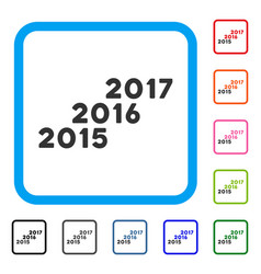 from 2016 to 2017 years framed icon vector image