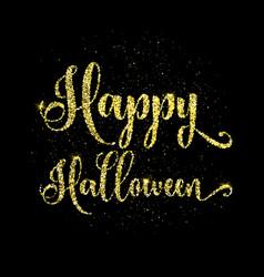 Glitter happy halloween type background vector