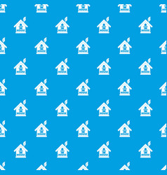 green house pattern seamless blue vector image