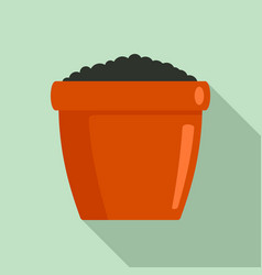 ground pot icon flat style vector image