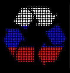 Halftone russian recycle arrows icon vector
