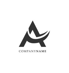 initial letter a logo design template vector image