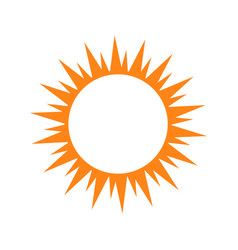 Isolated sun silhouette vector