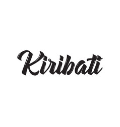 kiribati text design calligraphy vector image
