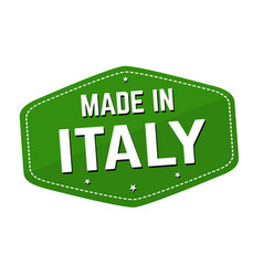 made in italy label or sticker vector image