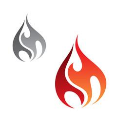 minimal flame vector image