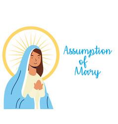Miraculous virgin assumption mary vector