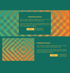 modern design green web page vector image