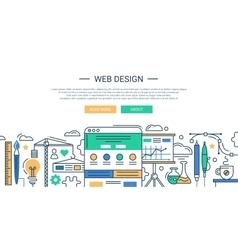 modern line flat design vector image