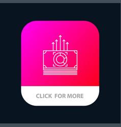 Money bundle bucks transfer mobile app button vector